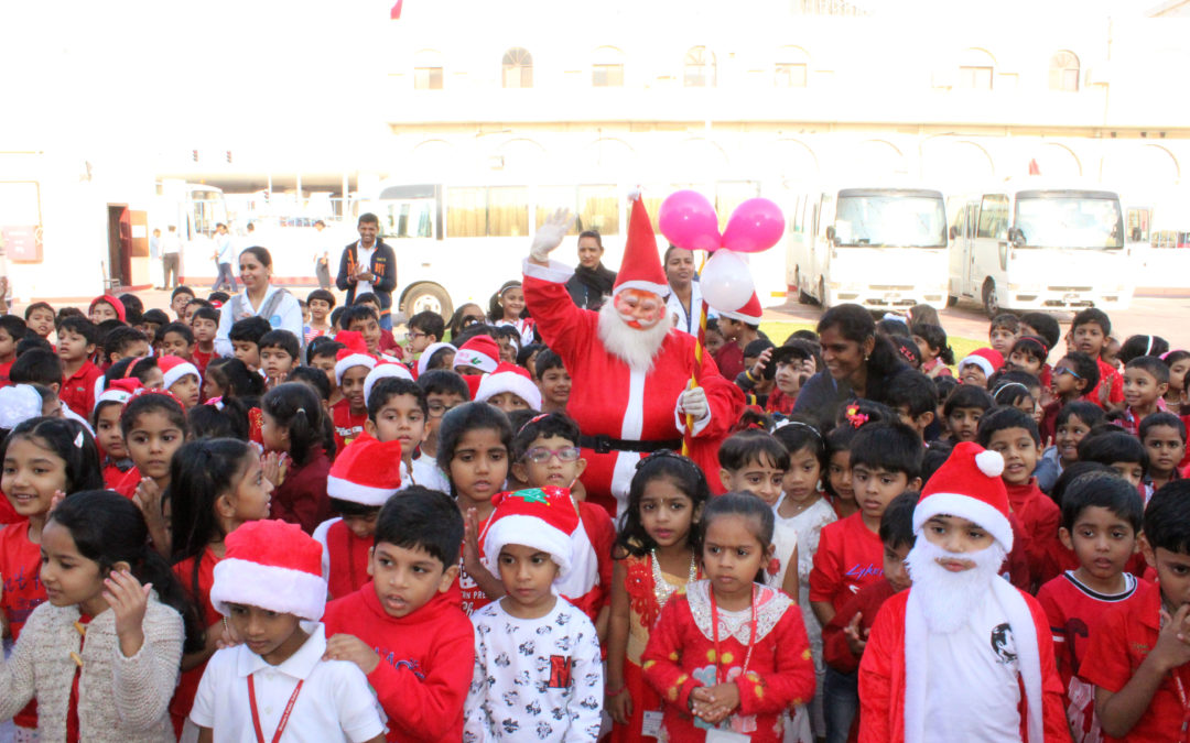 Christmas and New year Celebration by KG Students