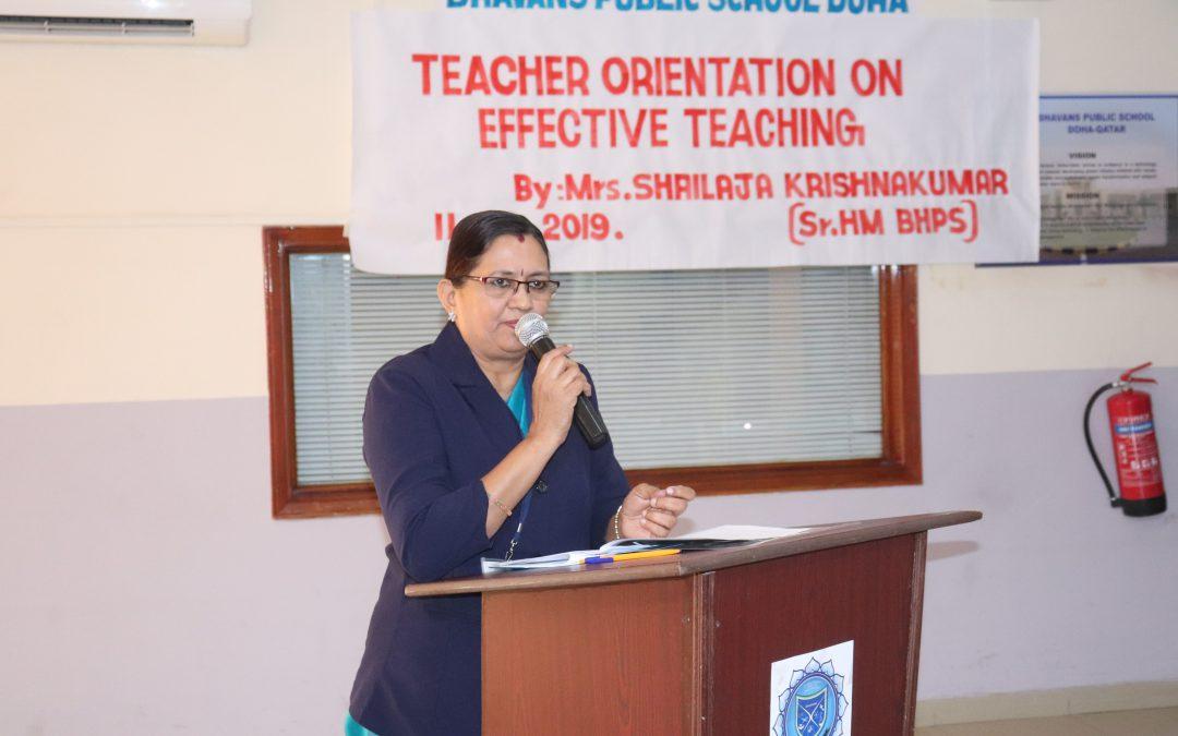 Orientation by Headmistress