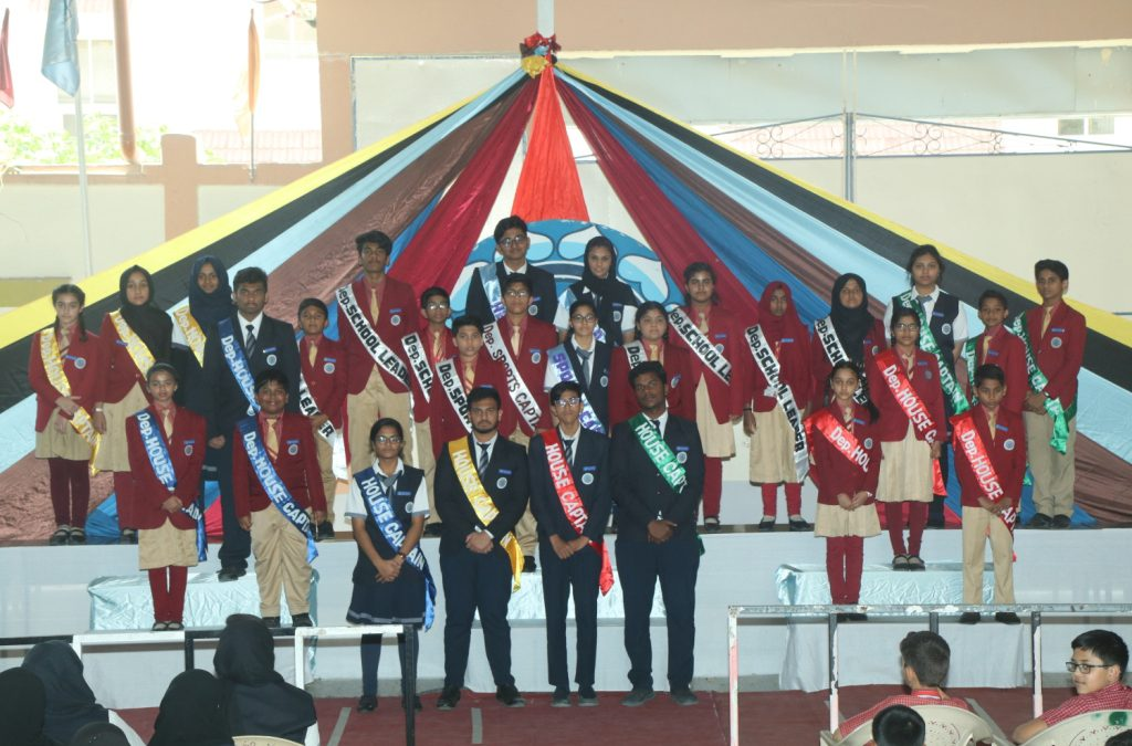BHAVANS  SCHOOL HOLDS INVESTITURE CEREMONY OF ITS STUDENT LEADERS