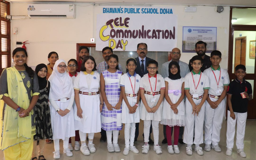Bhavan's Public School celebrated World Telecommunication Day