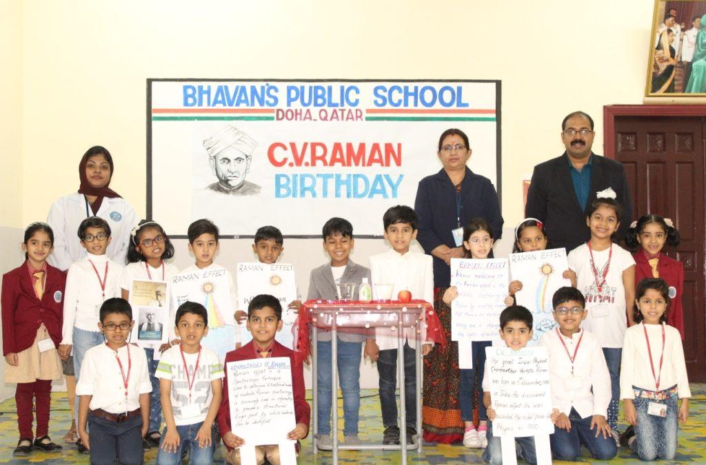 Bhavan's Public School celebrated C.V Raman's Birthday