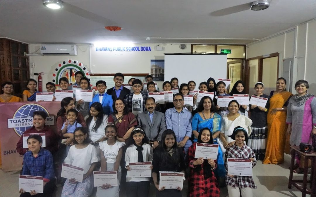 Bhavan's Toastmasters Conducts Youth Leadership Program