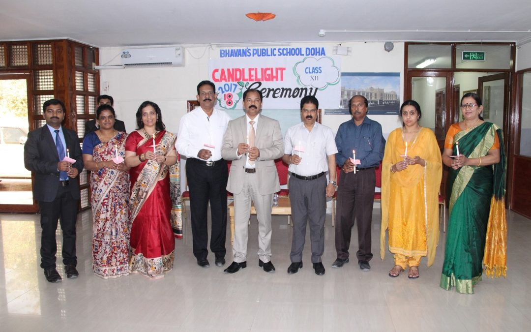 Candle Lighting Ceremony of class XII
